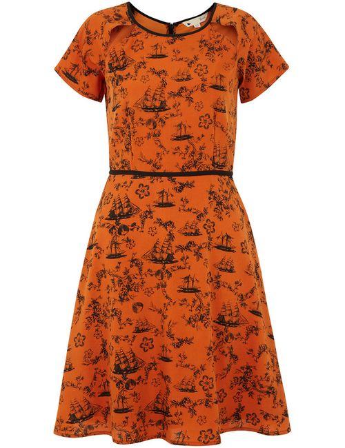 Yumi | Женское Оранжевое Платье