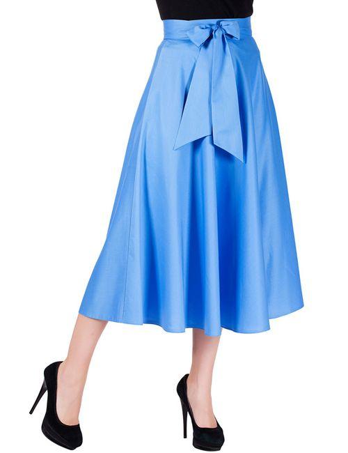 Mannon | Женская Голуба Юбка