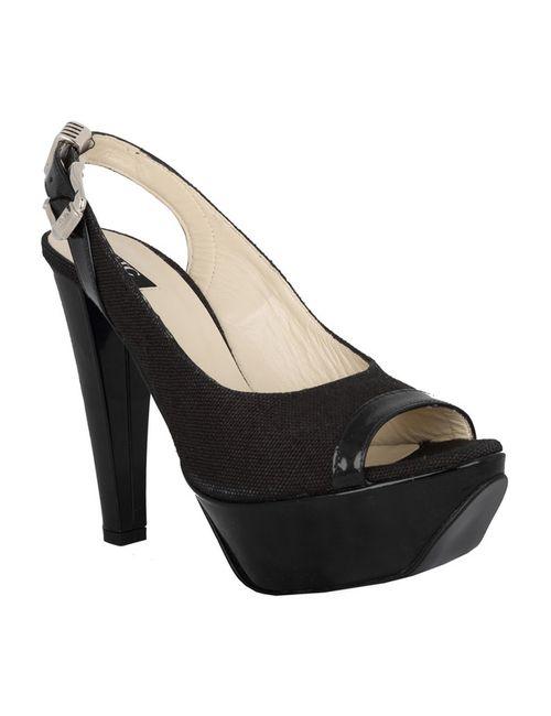Versace | Женские Чёрные Босоножки