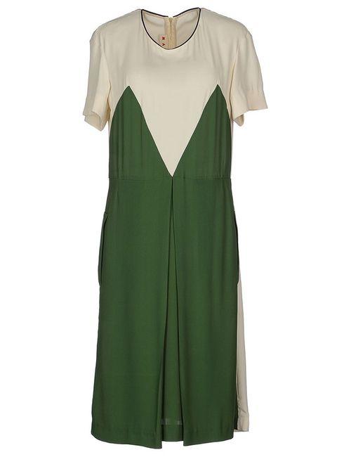 Marni | Женское Зелёное Платье