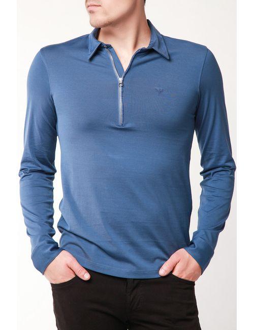 Emporio Armani | Мужская Синяя Рубашка-Поло