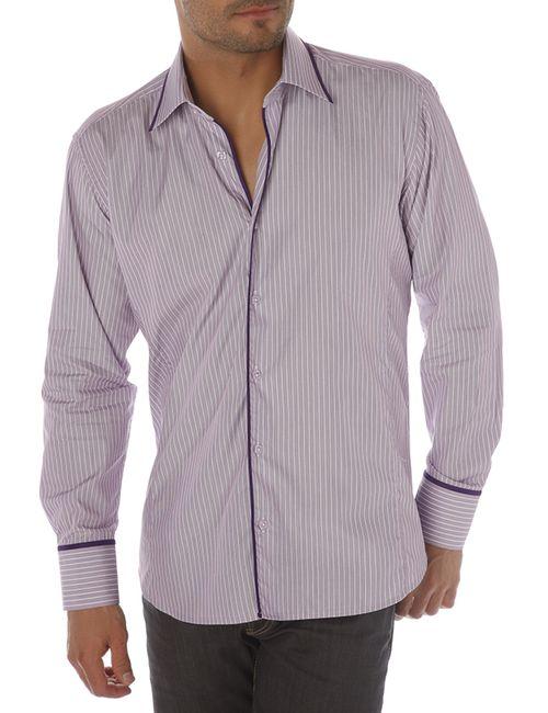 Gazoil | Мужская Фиолетовая Рубашка
