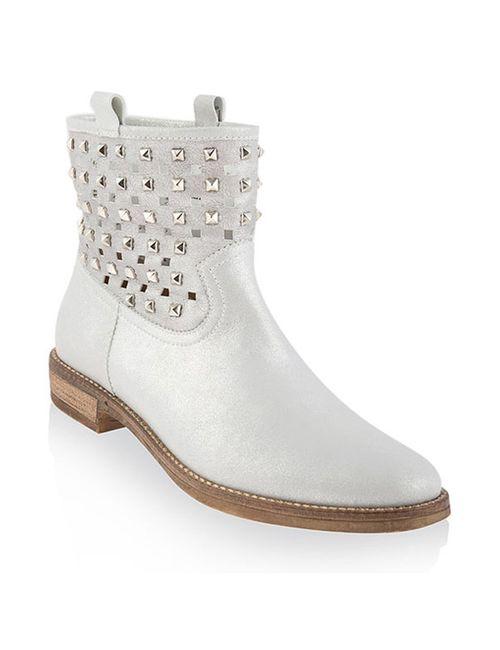 Florens   Женские Серебряные Ботинки