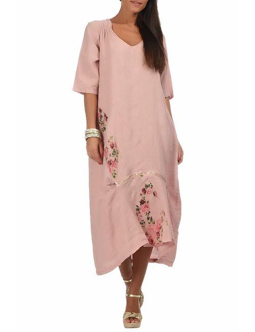 Un Coeur En Ete   Женское Розовое Платье