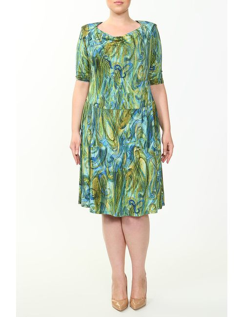 Comvill L | Женское Зелёное Платье
