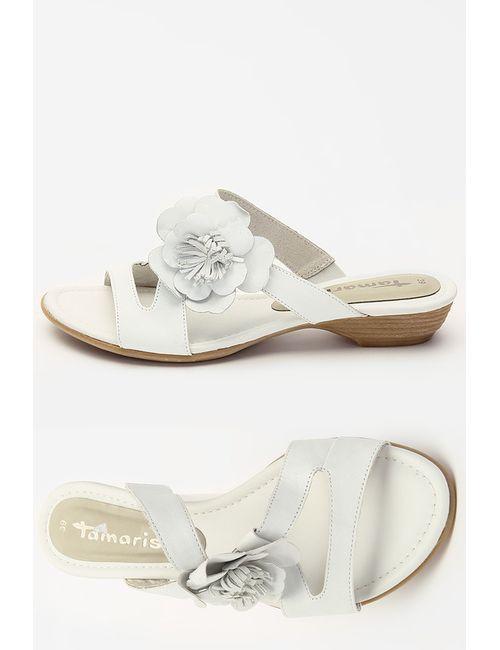 Tamaris | Женское Белое Сабо