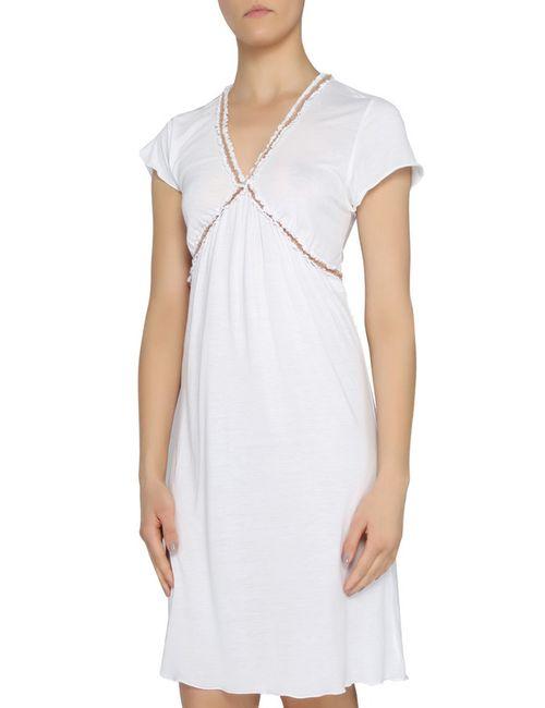 La Perla   Женская Белая Ночная Рубашка