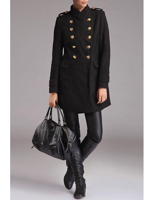 Top Secret | Женское Чёрное Пальто