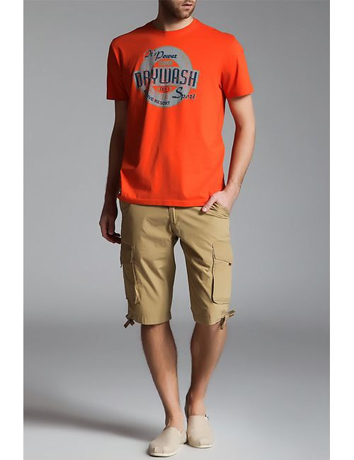DRYWASH | Мужская Оранжевая Футболка