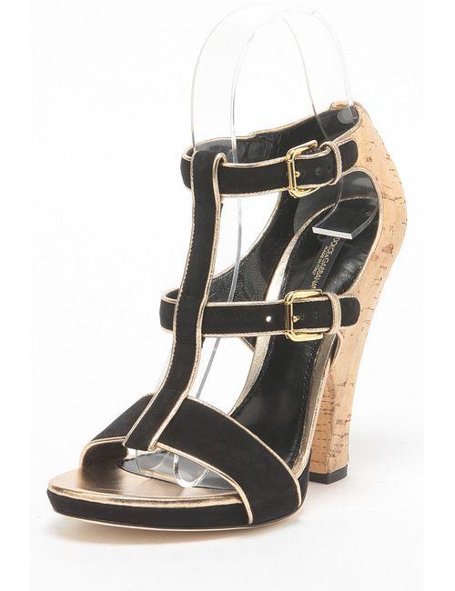 Dolce & Gabbana | Женские Чёрные Босоножки