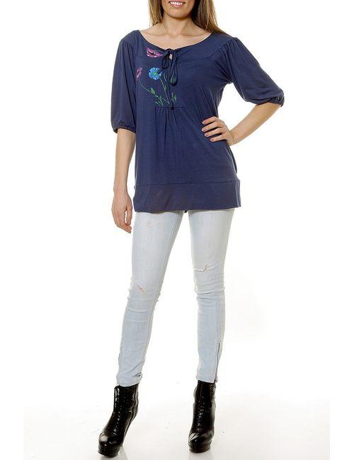 Selfie   Женская Синяя Блуза