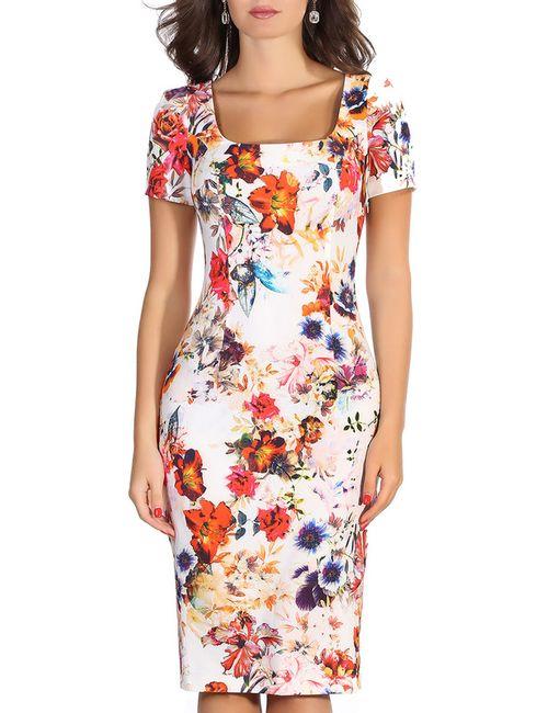 Olivegrey | Женское Оранжевое Платье