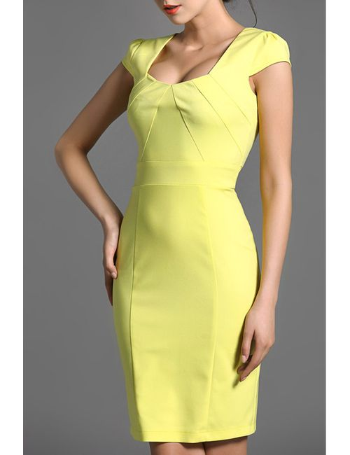 Baoyan | Женское Жёлтое Платье