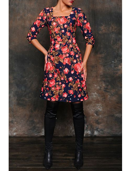 MARI-LINE | Женское Многоцветное Платье
