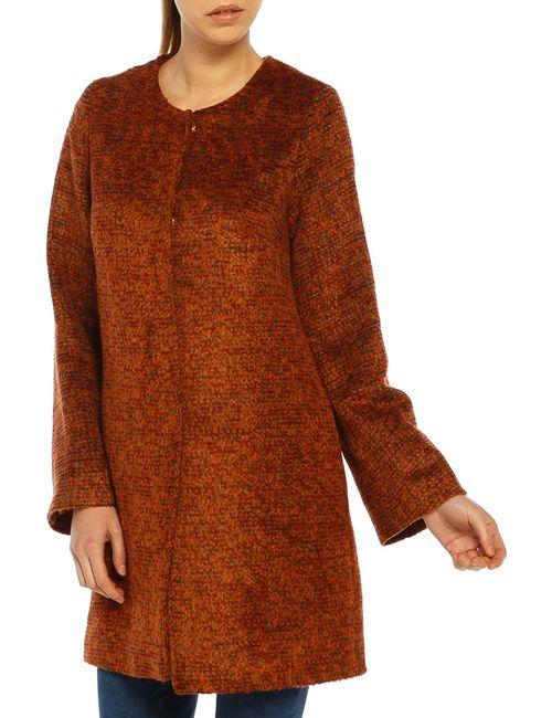 Dilvin | Женское Оранжевое Пальто
