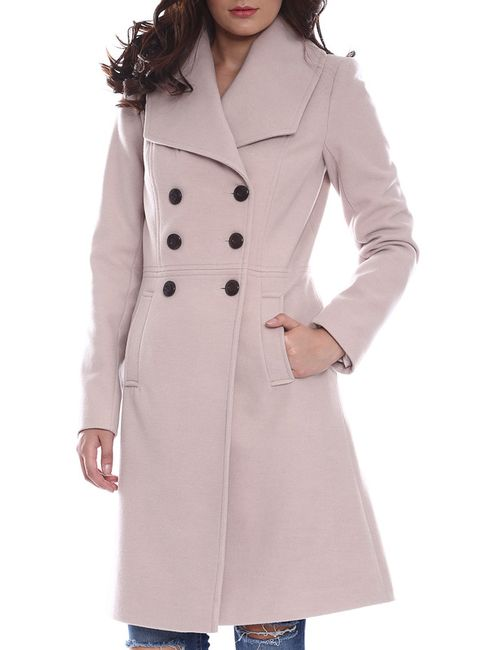 Moda Di Chiara   Женское Бежевое Пальто