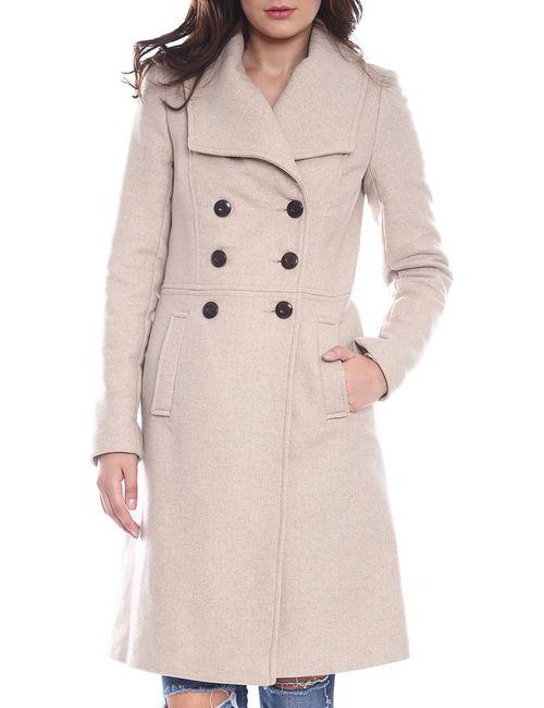 Moda Di Chiara | Женское Бежевое Пальто