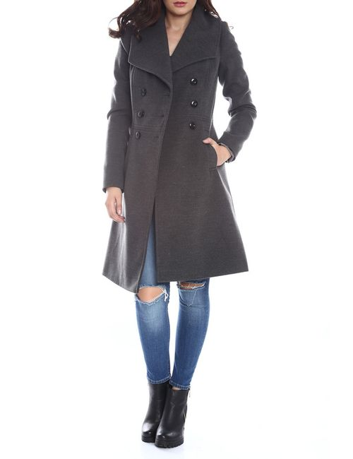 Moda Di Chiara | Женское Серое Пальто