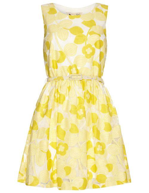 Yumi | Женское Жёлтое Платье