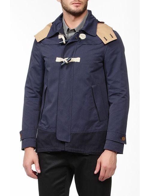 Mauro Grifoni | Мужская Синяя Куртка Капюшон