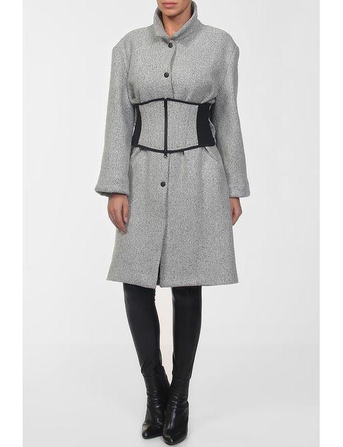 Acne | Женское Серое Пальто Пояс