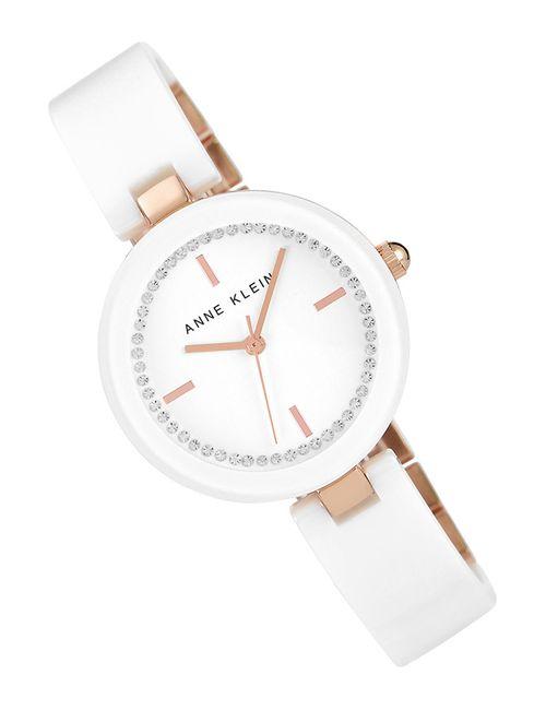 Anne Klein   Женские Белые Часы Наручные