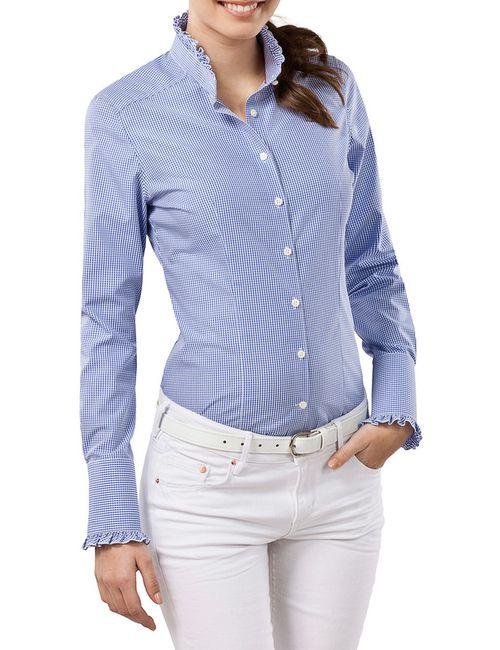 Vincenzo Boretti | Женская Синяя Рубашка