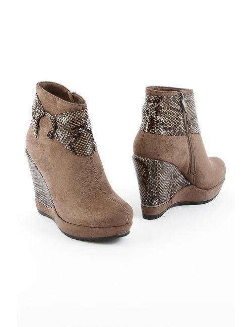 1to3 | Женские Зелёные Ботинки