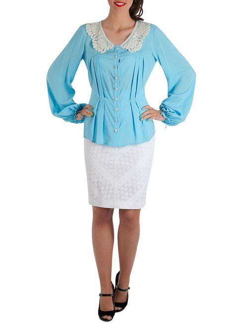 Ksenia Knyazeva | Женская Голуба Блуза