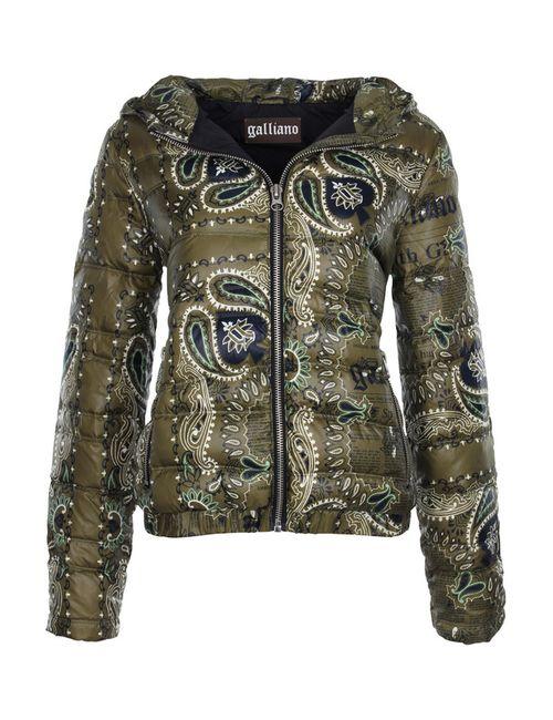 Galliano | Женская Зелёная Куртка