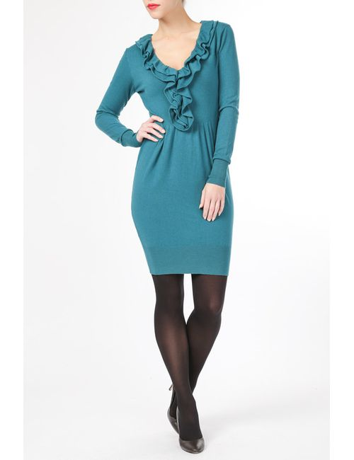 BARBARESI | Женское Голубое Платье