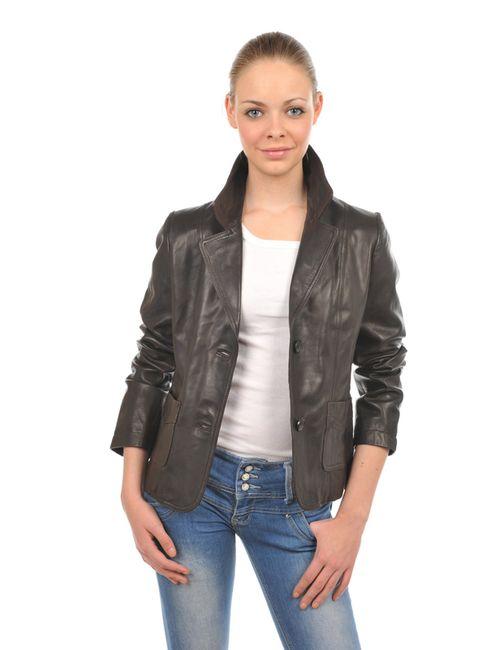 Arturo | Женская Коричневая Кожаная Куртка