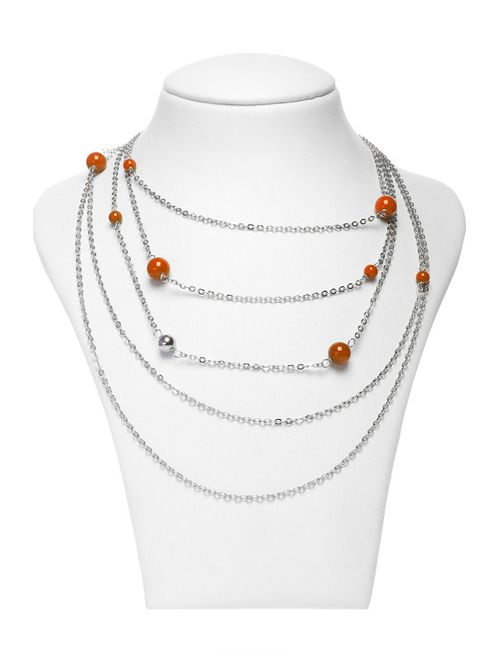 Happy Garnets | Женское Оранжевое Колье