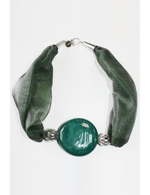 Divetro | Женские Зелёные Бусы