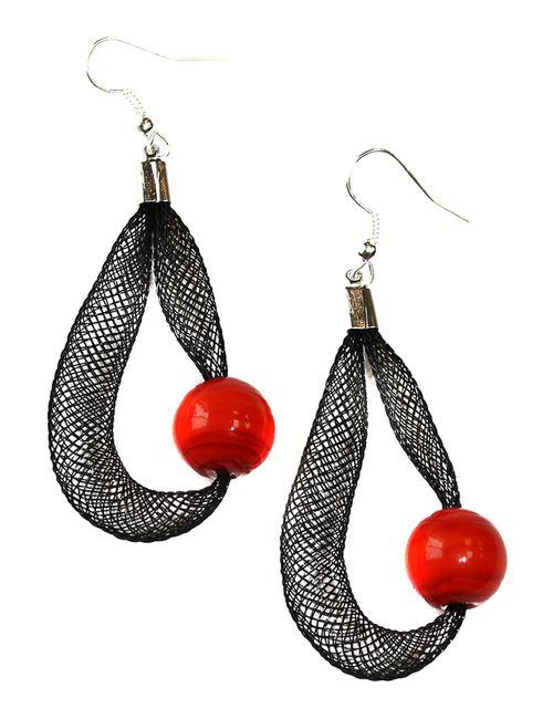 Divetro | Женские Красные Серьги Rina