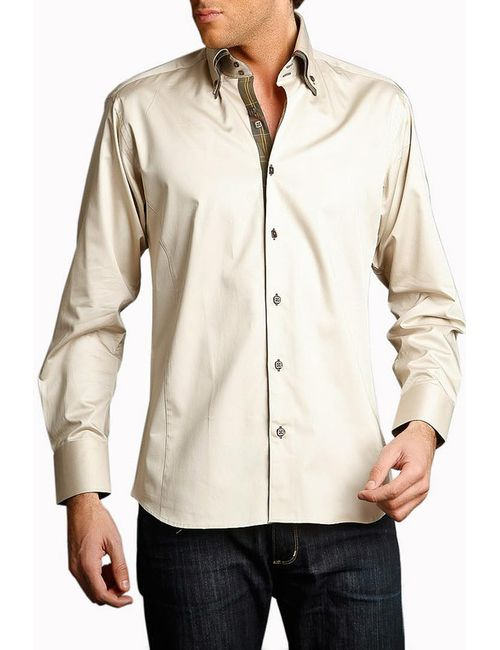 Gazoil | Мужская Бежевая Рубашка