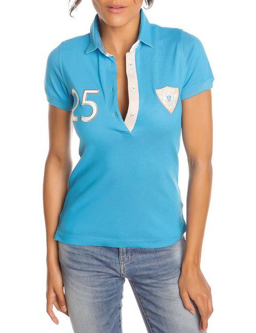 Gazoil | Женская Синяя Рубашка-Поло
