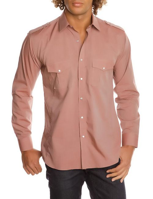Gazoil | Мужская Розовая Рубашка