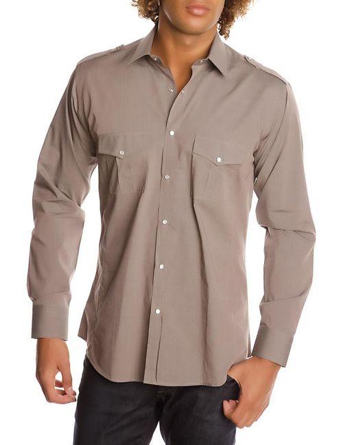 Gazoil | Мужская Коричневая Рубашка