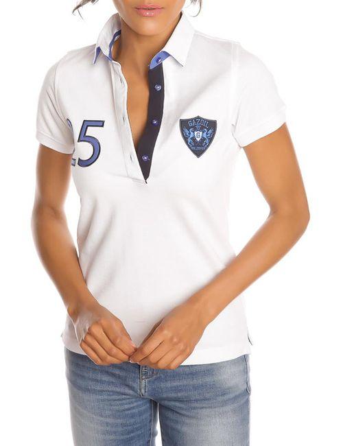 Gazoil   Женская Белая Рубашка-Поло
