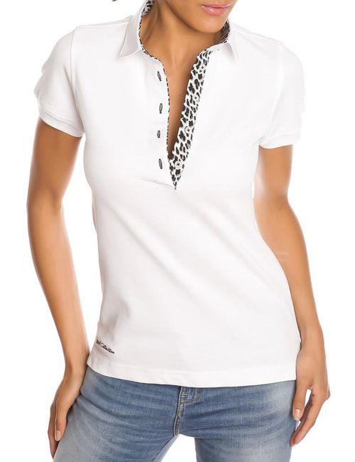 Gazoil | Женская Белая Рубашка-Поло