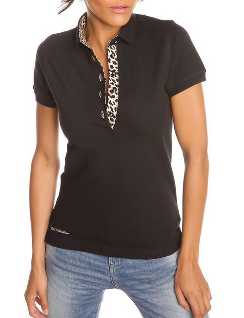 Gazoil | Женская Чёрная Рубашка-Поло
