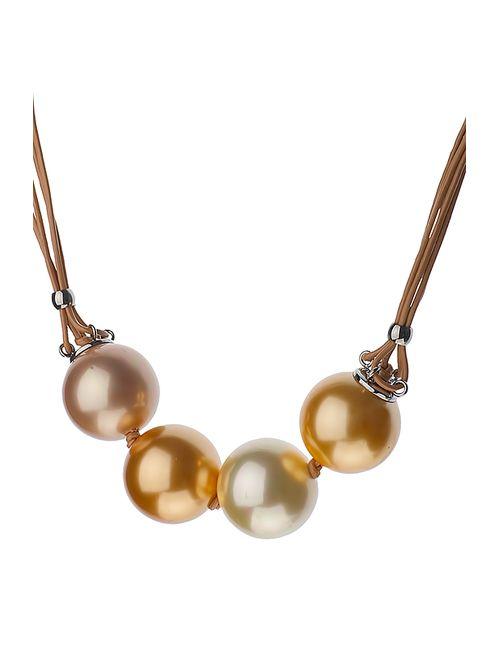 Misaki | Женское Белое Ожерелье На Шнурке Excess