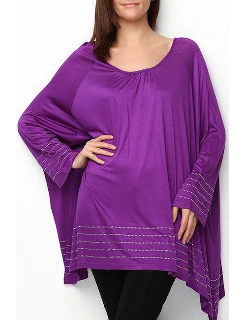 Moda di Lorenza | Женская Фиолетовая Туника