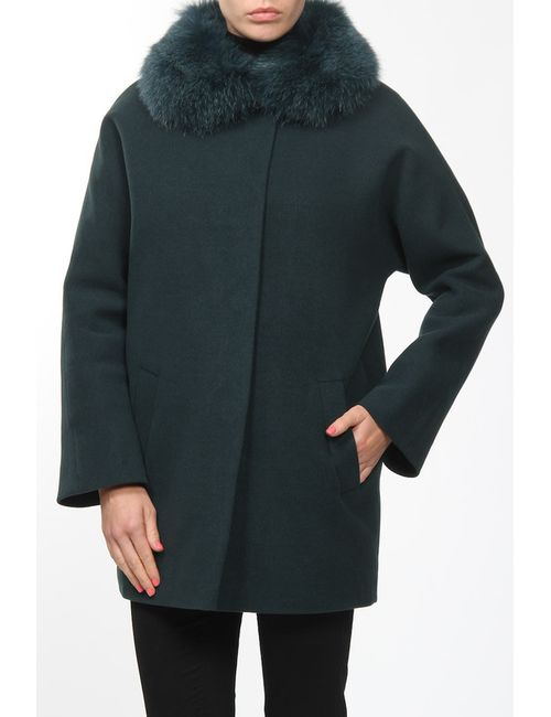 Амулет   Женское Зелёное Пальто