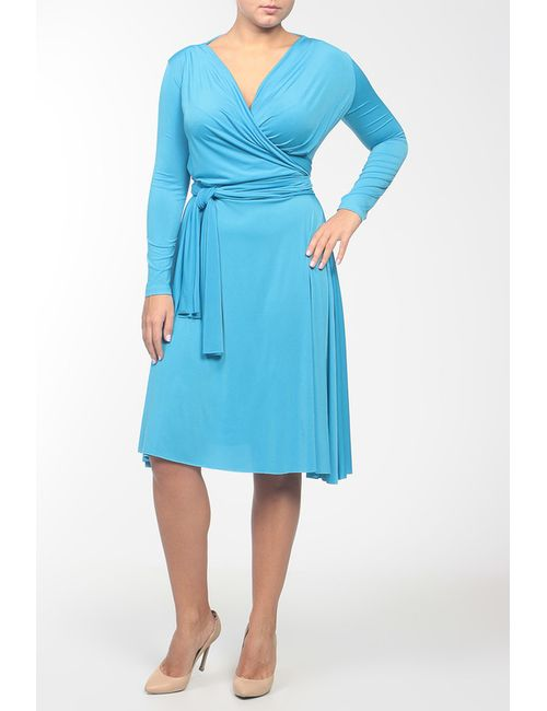 Von Vonni | Женское Голубое Платье Джерси