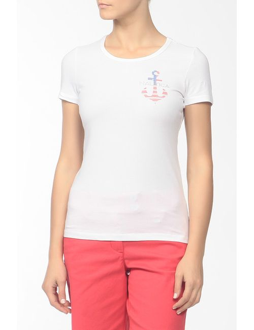 Nautica   Женская Белая Футболка