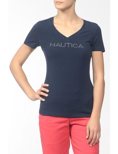 Nautica | Женская Синяя Футболка