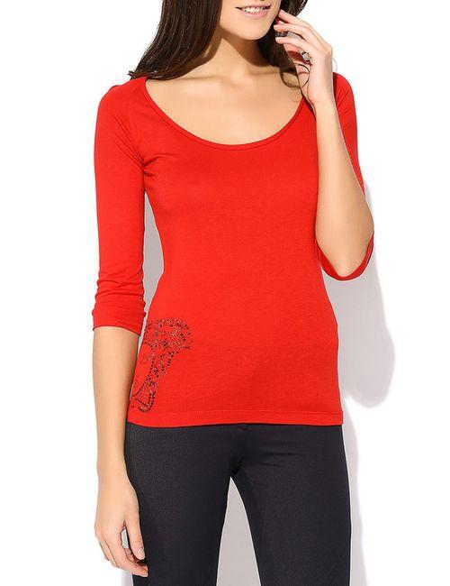 Versace Collection | Женский Красный Лонгслив
