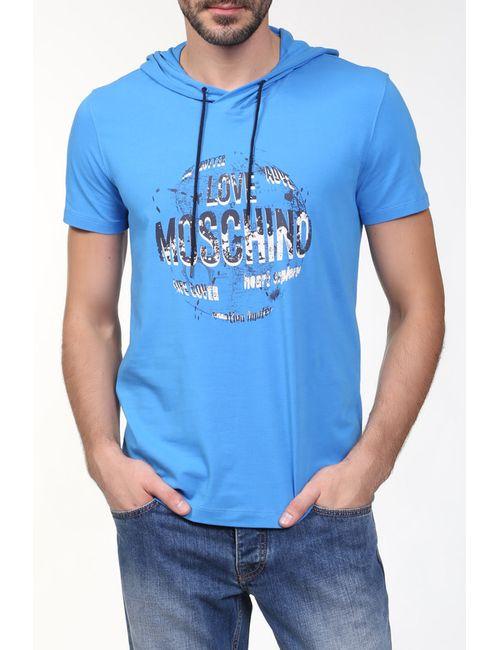 Love Moschino | Мужская Синяя Футболка